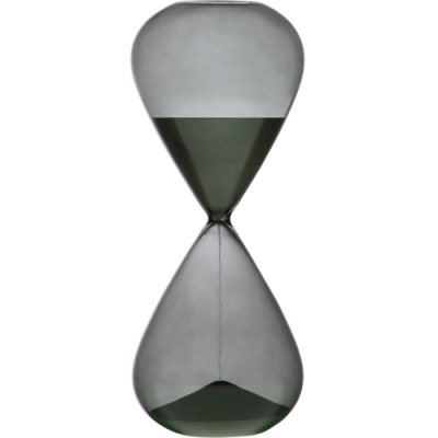 《VERSA》15分鐘圓弧玻璃沙漏(墨黑)