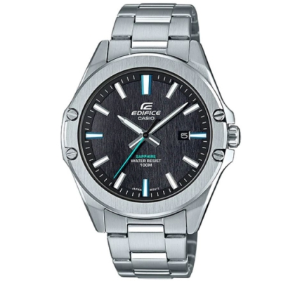 EDIFICE 超越極限時尚藍寶石玻璃鏡面不鏽鋼錶-(EFR-S107D-1A)/42.5