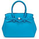 SAVE MY BAG Miss系列簡約輕量防水托特包-孔雀藍