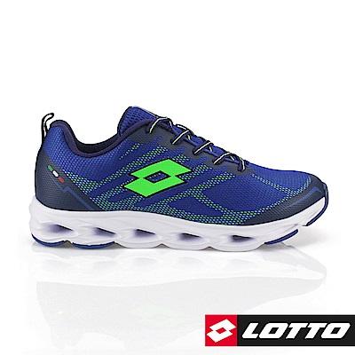 LOTTO 義大利 男   SPEEDRIDE 風動跑鞋(藍)