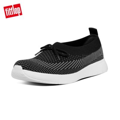 FitFlop ADORA BOW MARBLEKNIT BALLERINAS休閒娃娃鞋-女(黑/炭灰色)