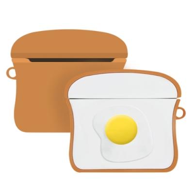 AirPods Pro 雞蛋吐司 可愛造型 耳機 藍牙耳機保護套-雞蛋吐司*1