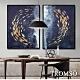 TROMSO 時尚風華抽象有框畫大幅-萬轉金流(兩幅一組)W970 product thumbnail 1