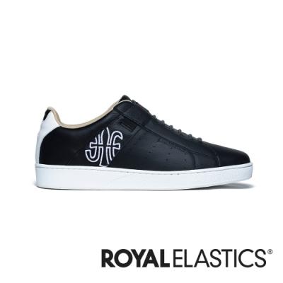 ROYAL ELASTICS Icon Genesis 黑白真皮運動休閒鞋 (男) 01901-990