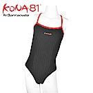 酷吶81 專業競賽型女童泳裝 KONA81 GLBT G 08 黑