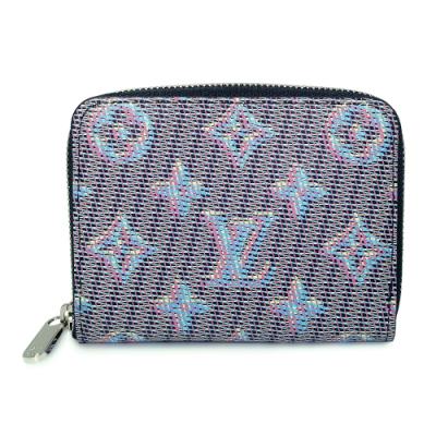 LV M68663 Monogram LV Pop 牛皮拉鍊零錢包(藍色)