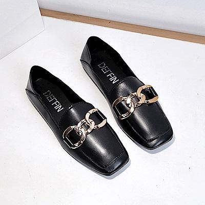 韓國KW美鞋館 名媛貴氣奢華懶人鞋-黑色
