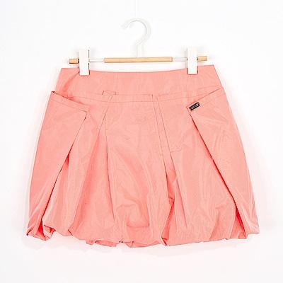 ICHE 衣哲 百搭粉色燈籠造型短裙