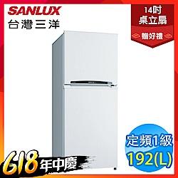 SANLUX台灣三洋 192L 1級定頻2門電冰箱 SR-B192B3 送風扇
