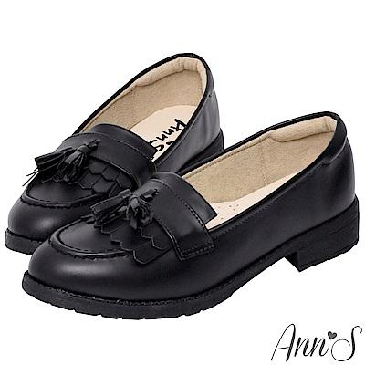 Ann'S私底下的穿搭-流蘇QQ軟底素面紳士鞋-黑(版型偏小)
