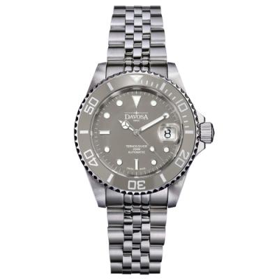 DAVOSA New Ternos Ceramic 200米陶瓷框潛水腕錶-莫蘭迪灰/40mm