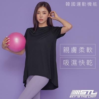yoga Metro Hip Cover SS 地鐵傘狀蓋臀T 韓國瑜伽 運動機能服長版短袖上衣  Black極簡黑