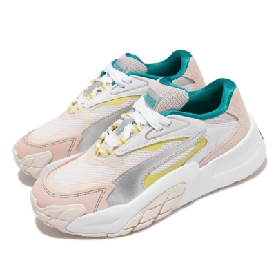 Puma 休閒鞋 Hedra OQ 厚底 女鞋 微增高 粉嫩 少女 穿搭推薦 夏日風格 粉 米 37512101