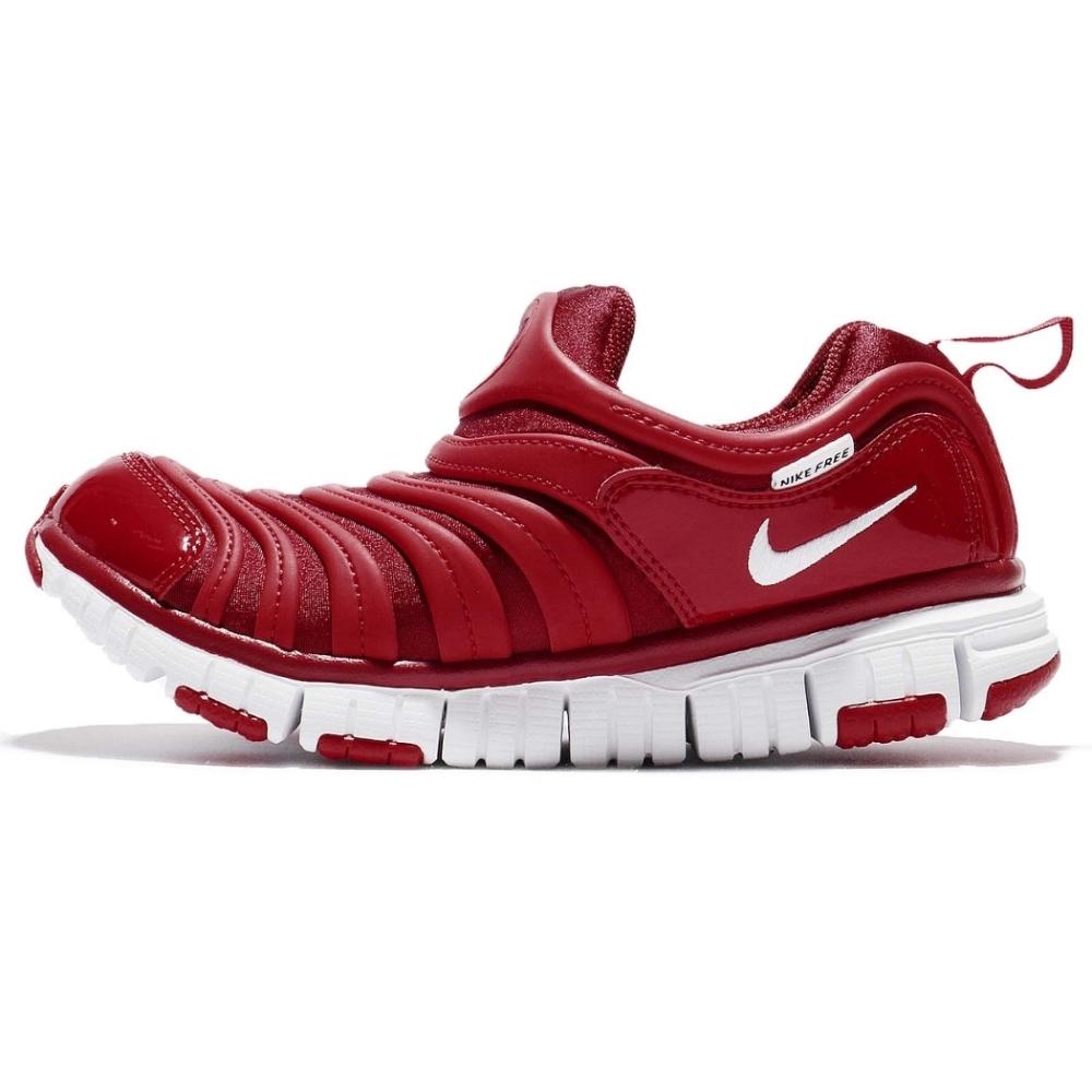 Nike Dynamo Free 中童毛毛蟲鞋-紅-343738621