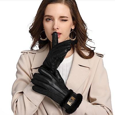 ego life羊皮皮毛一體女士保暖手套 共5色