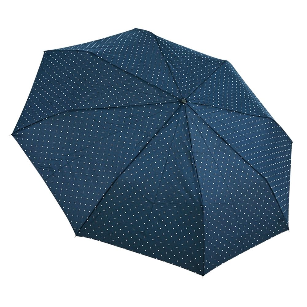 RAINSTORY藍白點點抗UV雙人自動傘