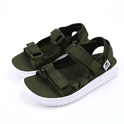 New Balance 涼拖鞋中大童涼鞋-KS750KY-W 綠色