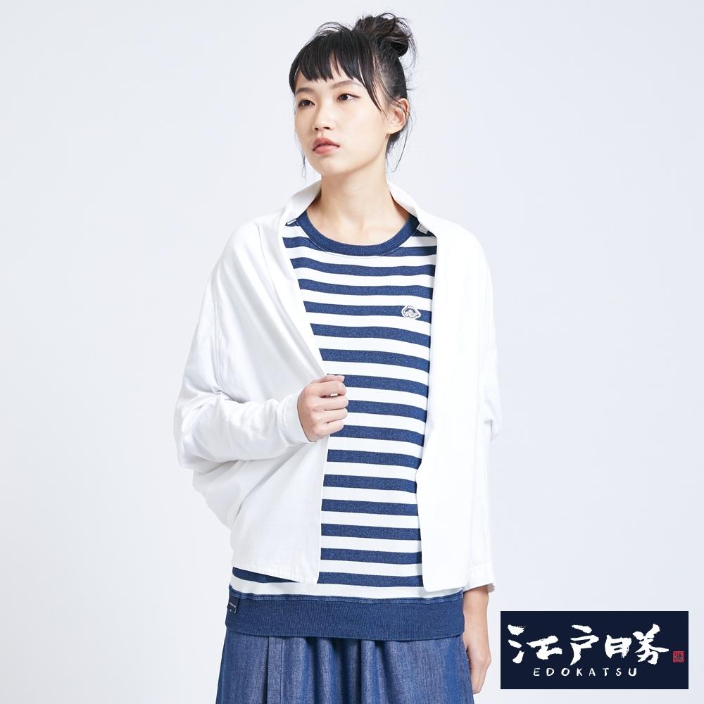 EDO KATSU江戶勝 兩穿式和風罩衫-女-米白色