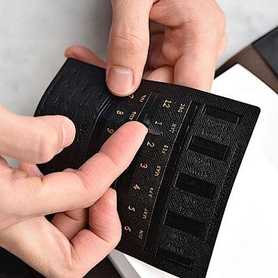 PLEPIC 馬卡龍燙金皮革標籤貼-經典黑