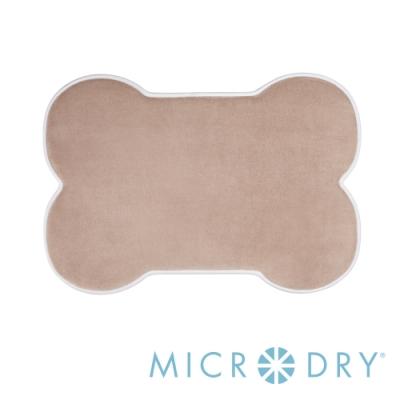 Microdry 舒適記憶綿造型地墊/浴墊【亞麻色/ L】