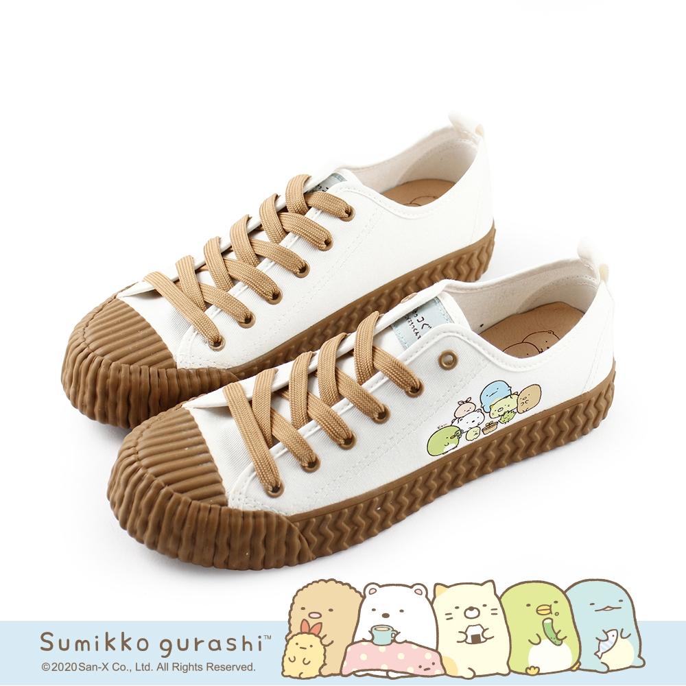 角落小夥伴 觀察小植栽繽紛餅乾鞋帆布鞋-小白鞋
