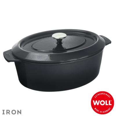 WOLL德國歐爾 IRON橢圓鑄鐵鍋34x26cm-灰