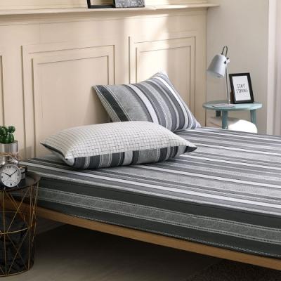 鴻宇 100%精梳棉 希爾伯特 單人床包枕套二件組