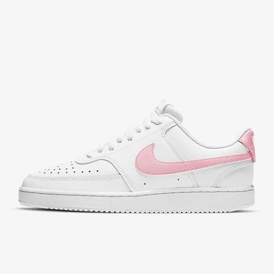 Nike Court Vision Low 皮革 女休閒鞋-白粉-CD5434110