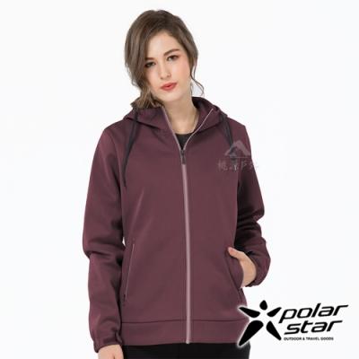 PolarStar 女 防風Soft Shell外套『酒紅』P19202