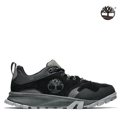 Timberland 男款黑色Garrison Trail 防水絨面低筒健行靴|A28G5