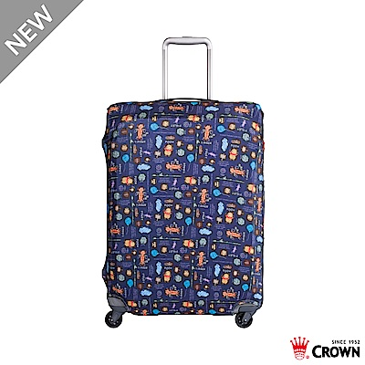 CROWN 皇冠 行李箱保護套 19~24吋 花園維尼小熊