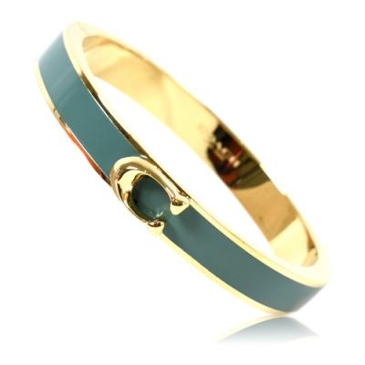 COACH 經典C字金屬磁吸釦手環-杜松綠