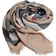 BURBERRY 義大利製經典大格紋喀什米爾羊毛圍巾(經典駝/200x100) product thumbnail 1