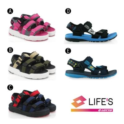 [時時樂限定]LOTTO 義大利 童 輕量織帶涼鞋(5款任選)
