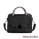 Aimer La Rue 凱瑟琳圓形鎖扣甜美手提側背包(六色)