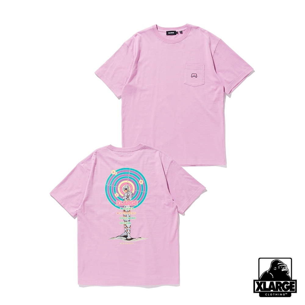 XLARGE S/S TARGET POCKET TEE復古電玩短T-紫 product image 1