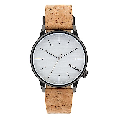 KOMONO Winston Cork 腕錶-曜石樸質/41mm
