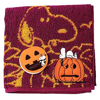 SNOOPY史努比萬聖節派對 小方巾(B款-紫紅色)