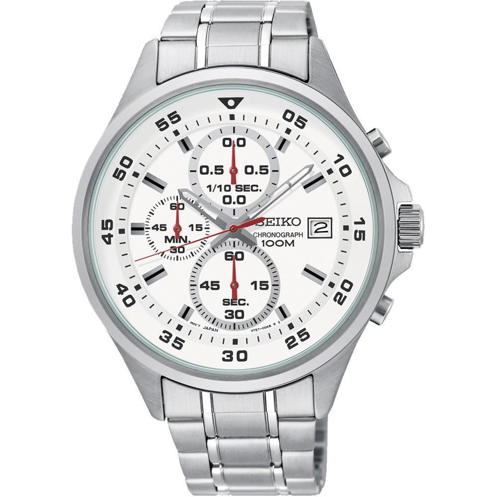 SEIKO精工 全新里程三眼計時手錶(SKS623P1)-白/42mm