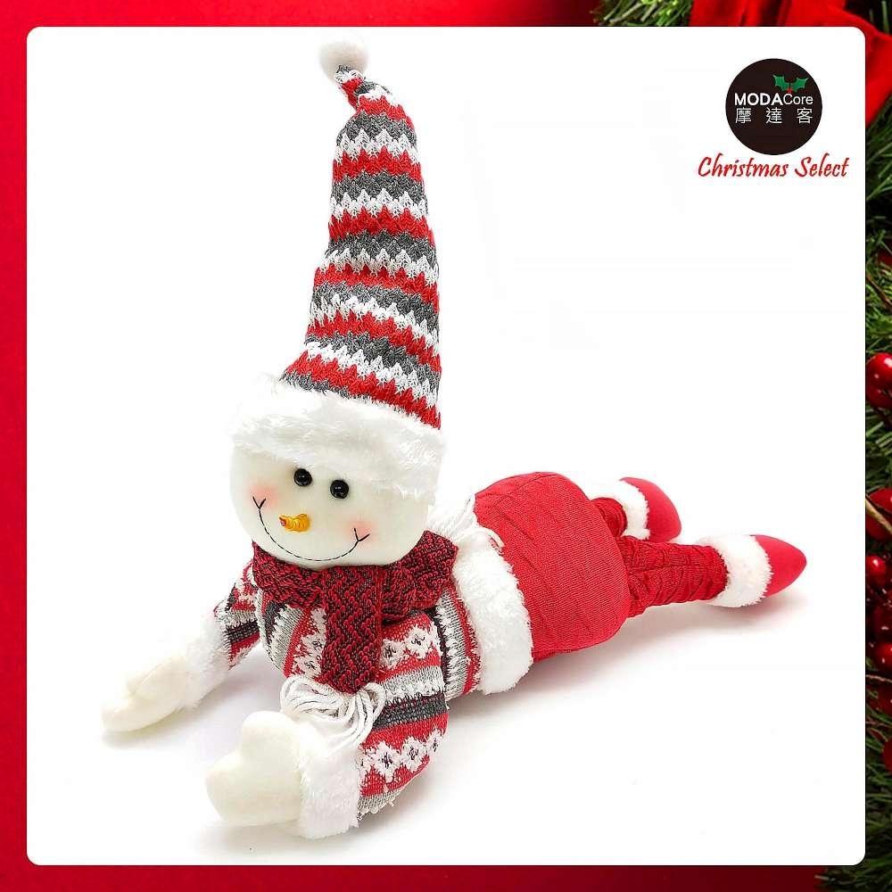 摩達客耶誕-聖誕趴趴翹臀玩偶擺飾午安枕-雪人-交換禮物