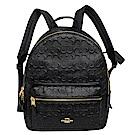 COACH MEDIUM CHARLIE黑色浮雕C Logo全皮後背包