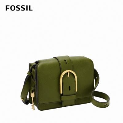 FOSSIL Wiley 真皮復古美型側背包-橄欖綠 ZB7885311