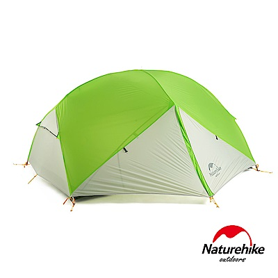 Naturehike 蒙加2雙層防雨20D矽膠雙人帳篷 贈地席 春芽綠