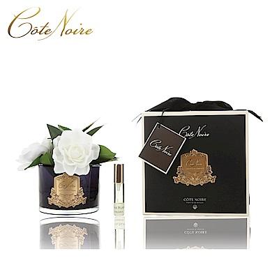 法國 CoteNoire 蔻特蘭 三朵槴子花香氛花黑瓶