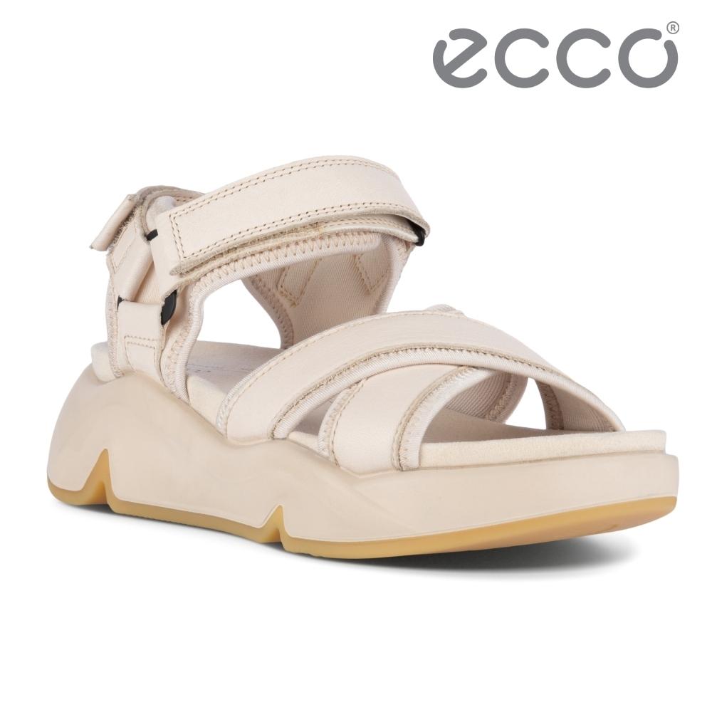 ECCO CHUNKY SANDAL 潮趣增高休閒時尚涼鞋 女鞋 石灰色