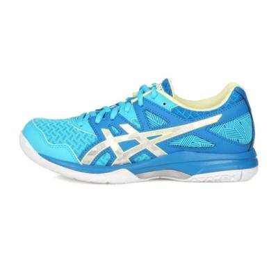 ASICS 女 排羽球鞋 GEL-TASK 2 藍銀淺綠