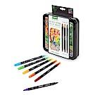 美國Crayola 繪兒樂 極緻雙頭勾勒素描筆精裝組16入(9Y+)
