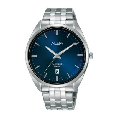 ALBA 雅柏 Prestige不鏽鋼藍寶石水晶錶41黑色(AS9L11X1)