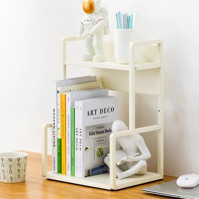 【HappyLife】H型桌面置物架花架-兩層30cm(白色) 30×22×41.5cm