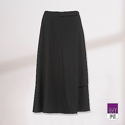 ILEY伊蕾 彈性傘襬A字長裙(黑)